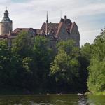 Zamek Czocha widok znad jeziora